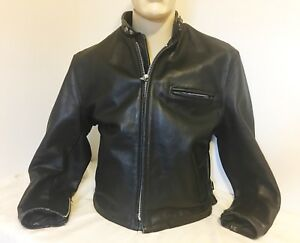 Schott NYC Leather Jacket Women's 16 No Liner Excellent Cond