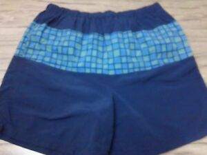 Mens DOWN UNDER Swim Trunks Board Shorts Surf Beach LINED Size L #1177 $7.49
