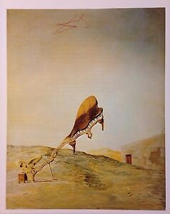SALVADOR DALI ' HAND SIGNED * SKULL WITH HIS LYRICAL NOTES LEANING * PRINT WCOA