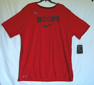 The Nike Tee Athletic Cut Dri-Fit Mens SS T-Shirt Red Sz XXL-Tall Cotton Blend