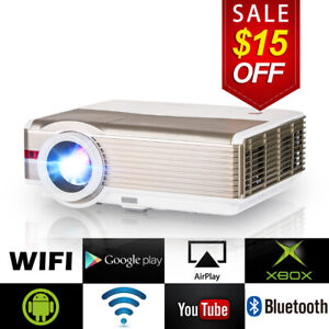 HD Android WiFi Backyard Movie Projector 1080P Smart Wireless LED Video HDMI USB
