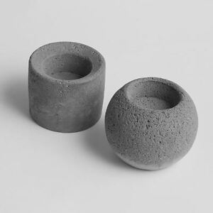 Concrete molds cement candlestick molds cylindrical & ball two type candle holde