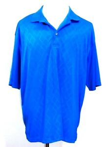 2 Under Mens Shirt Blue Collared Short Sleeve Polo Size 2XL 50 52 $12.99