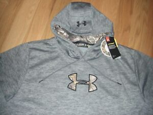BUY~NWT~MENS UNDER ARMOUR~COLD GEARSTORM1~GREYBLACKCAMO~LOOSE~HOODIE~SIZE 3XL