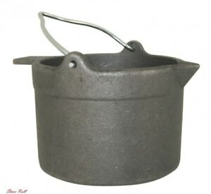 Cast Iron Pot Holder Cooking Large Lead Heat Melting Cooking Alloy Flat Lyman