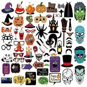 Halloween Photo Booth Party Props for Party Wedding Reunions Festivals 66 Pcs
