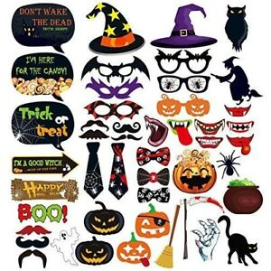 Halloween Photo Booth Party Props for Party Wedding Reunions Festivals 47 Pcs