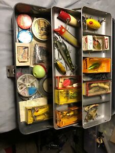 Vintage Tackle Box Loaded With Vintage Lures