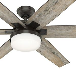 Hunter Fan 64 inch Nobel Bronze Indoor Ceiling Fan with Light and Remote Control $109.95
