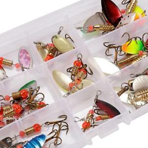 4g 30x Colorful Trout Spoon Metal Fishing Lures Spinner Baits Bass Tackle Bite