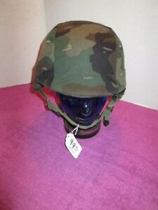 US MILITARY KEVLAR(made with Kevlar) HELMET WITH COVER (#4)