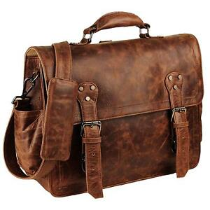 Handmade Convertible Laptop Backpack  Briefcase Leather Computer Bag