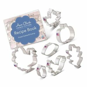 Fall Thanksgiving Cookie Cutter Set with Recipe Book - 7 Piece - Maple Leaf, ...