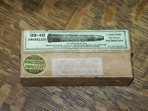 ANTIQUE 1886 WINCHESTER 94 32-40 Metal Patch AMMO BOX EMPTY wshls