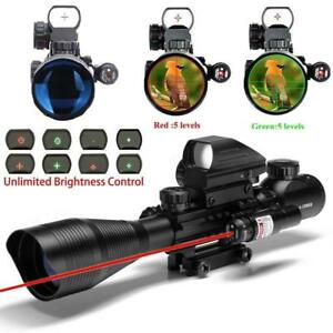 4-12X50 EG R&G Hunting Rifle Scope, w/ Holographic Dot Sight + Red Laser Sight