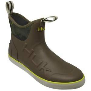 New Huk H8021001 Rogue Wave Rubber Fishing Boots Nonslip (200) Brown