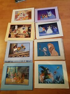 Disney Store Lot of 8  Exclusive Commemorative Lithographs Collectables