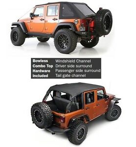 Smittybilt All In One Bowless Soft Top & Hardware For 07-18 4dr Jeep Wrangler JK