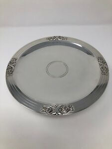 Tiffany 22803 Sterling Silver Tazza  Pedestal Cake Stand Plate 8 58