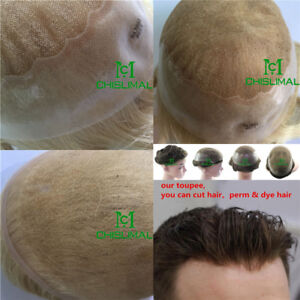 Hair Replacement Skin & Lace Toupee Fashion for Men's Hairpiece Bella System Top