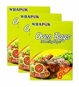 WRAPOK Roasting Oven Bags Small No Mess Cooking Bags For Turkey Chicken Meat - x