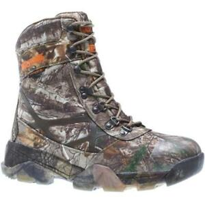 Wolverine Men#x27;s Archer 8 Inch Insulated Waterproof Hunting Boots Realtree Extra $54.99