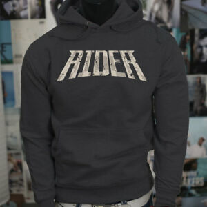 RIDER CAMOUFLAGE MILITARY MOTORCYCLE SOLDIER Mens Charcoal Hoodie