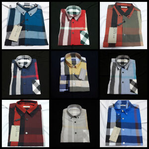 BURBERRY BRIT MENS NWT PLAIDS COTTON CASUAL SHIRTS