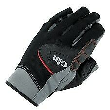 Gill Short Finger Championship Gloves - Junior - Black/Gray