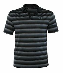 Under Armour Men's Performance Golf Polo CoolSwitch Shirt Striped Top