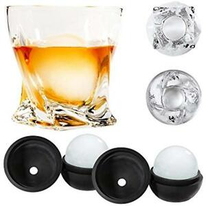 Atlas&Co Old Fashioned Glasses Premium Whiskey With ADD-ON Ice Ball Molds Set Of