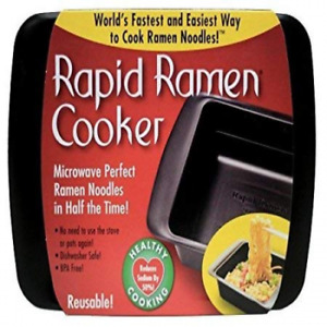 Rapid Ramen Cooker - Microwave in 3 Minutes - BPA Free and Dishwasher Safe