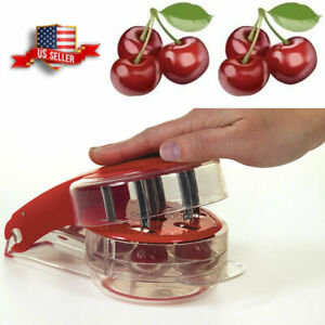 One Step Progressive Cherry Pitter Seed Remover Cutter 6 Cherries At Once $8.45