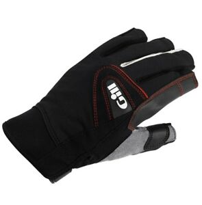Gill Short Finger Championship Gloves - Small - Black/Gray 2017 Model