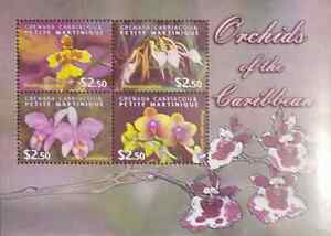 L 2009 GRENADA ORCHIDS OF THE CARIBBEAN FLOWERS VIOLET MNH $7.99
