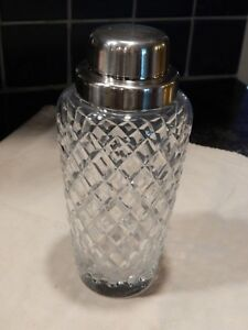 Vintage Cut Crystal Cocktail Shaker1930s
