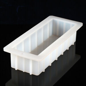 10'' Loaf Soap Mold Silicone Rectangle DIY Baking Cake Toast Bread Making Tools