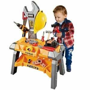 110pc Kids Pretend Play Toy Construction Tool Complete Set Workbench for Toddler