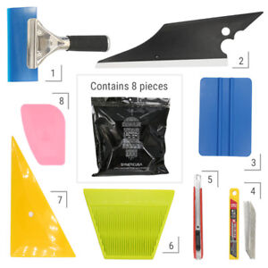 8X Car Vinyl Wrapping Tools Squeegee Applicator Kit Window Tint Film Install New