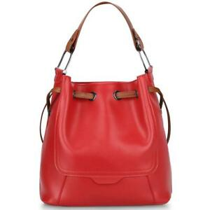 Clearance Sale - S-ZONE Women's Genuine Leather Shoulder Bucket Bag Crossbody