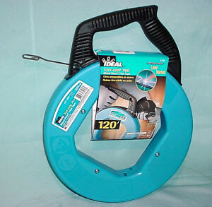 Fish Tape18 In x 120 ft Blued Steel IDEAL 31-056 Wire Pulling Electrician NEW
