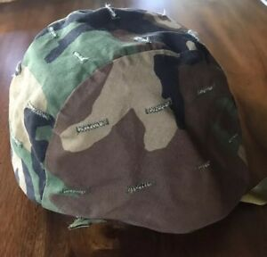 US MILITARY PASGT Helmet Cover Woodland Camouflage Pattern XS S ARMY  SURPLUS