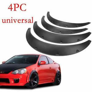 4Pcs Universal Fender Flares 50mm75mm Wide Body Kit Wheel Arches Durable PU