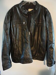 New MICHAEL KORS 100% AUTHENTIC $275 Faux Leather Moto Jacket Coat XXL 2XL