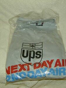 (1) UNITED PARCEL SERVICE UPS NEXT DAY/2ND DAY AIR SHIRT EMPLOYEE EXCLUSIVE 80's