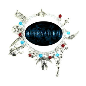 Supernatural TV Series (11 Themed Charms) Assorted Metal Charm Bracelet