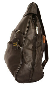 Women Leather Backpack Convertible Shoulder Strap School Bag 9x14x4 Black Brown