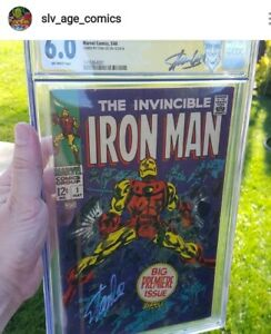 Iron Man #1 CGC 6.0 SS Signed By Stan Lee - never pressed