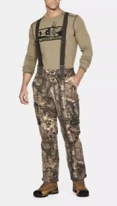Under Armour UA Extreme Wool Hunting Pants Bib RealTree Camo SZ ( 1297439-946 )