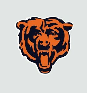 Chicago Bears Bear NFL Football Color Logo Sports Decal Sticker Free Shipping